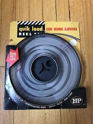 New Vintage HiP Quik Load Reel Set For Home Movies 8mm 400' 32 Minutes Unopened