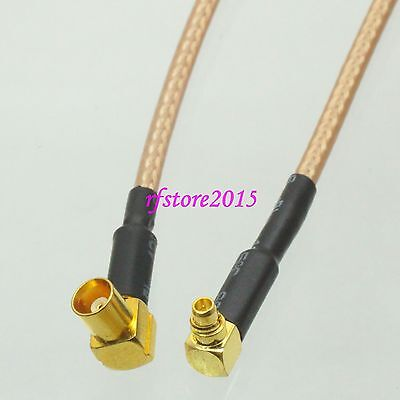 Cable RG316 6inch MCX female jack 90° to MMCX male right angle RF Pigtail Jumper