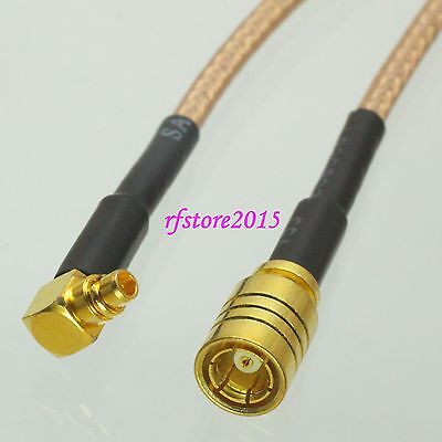 Cable RG316 6inch SMB female jack to MMCX male right angle RF Pigtail Jumper