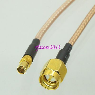 Cable RG316 6inch MMCX female jack to SMA male plug Straight RF Pigtail Jumper
