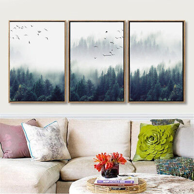 Unframed Brid Forest Canvas Art Printed Painting Living Room Home Wall Decor
