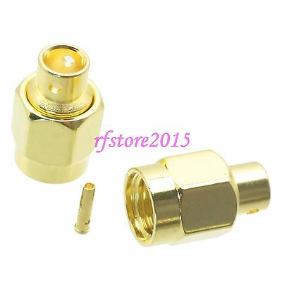 """1pce Connector RP-SMA male jack solder RG402 0.141"""" cable RF COAXIAL Straight"""