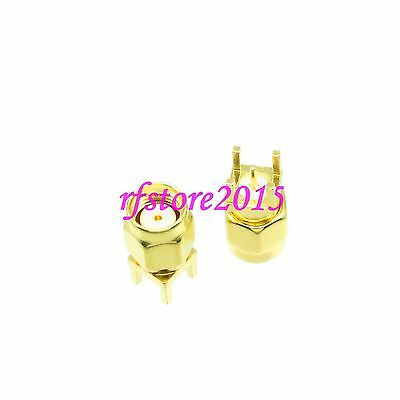 1pce Connector RP-SMA male jack solder PCB mount  RF COAXIAL Straight