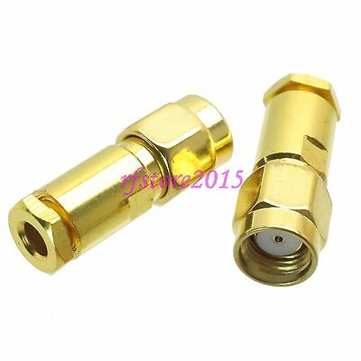 1pce Connector RP-SMA male jack clamp RG316 RG174 LMR100 RF COAXIAL Straight