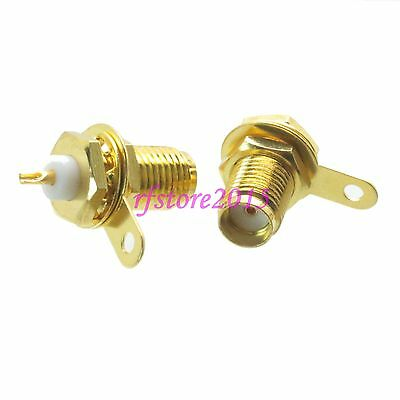 1pce Connector SMA female jack bulkhead solder Panel mount PTFE COAXIAL