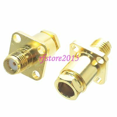 1pce Connector SMA female jack Flange clamp RG58 RG142 LMR195 RG400 RF COAXIAL