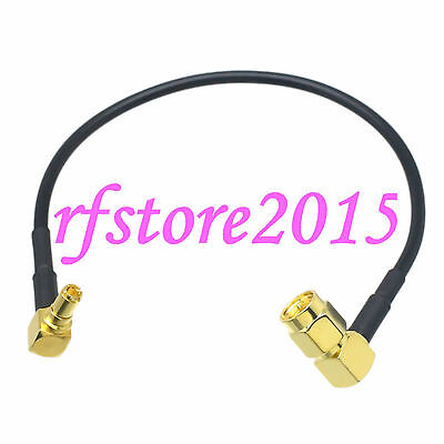Cable RG174 6inch SMA male 90° to TS9 male right angle Gold RF Pigtail Jumper
