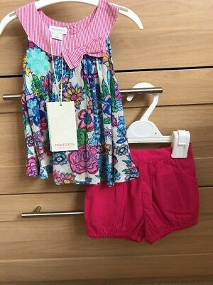 Monsoon Top And Shorts Set Baby Girl 3-6 Months BNWT