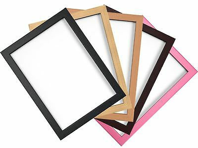 Photo Picture Poster Frame All Sizes Black Beech Pine Pink Mahogany A1 A2 A3 A4