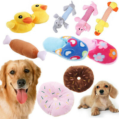 Pet Puppy Chew Squeaker Squeaky Plush Sound Pig Elephant Duck For Dog Toys