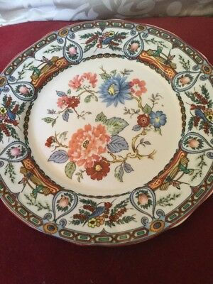 Chinese or Japanese Very Pretty Plate Decorated With Boating Scenes and Flora