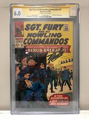Sgt. Fury And His Howling Commandos #35 Cgc Ss 6.0 Fn Signed By Stan Lee!