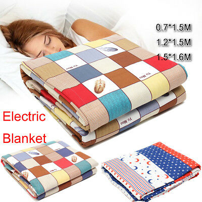 220V Chemical Fiber Heated Electric Throw Rug Snuggle Blanket for 1/2/3 Person
