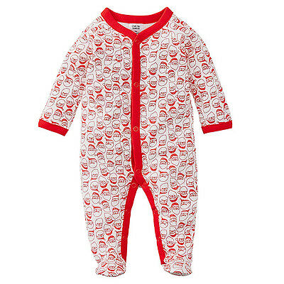 NWT Target Girls Boys Santa Christmas Coverall Romper Size 0000 New Baby