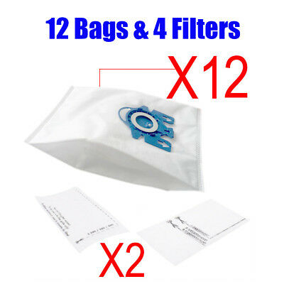 12 Vacuum Cleaner Bags For Miele 3D GN COMPLETE C2 C3 S2 S5 S8 S5210 S5211 S8310