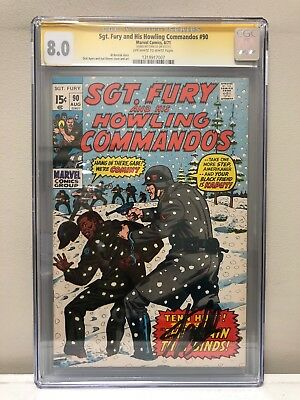 Sgt. Fury And His Howling Commandos #90 Cgc Ss 8.0 Vf Signed By Stan Lee!