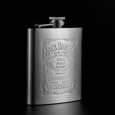Stainless Steel Hip Flask Round Pocket Screw Cap Liquor Container Portable BY