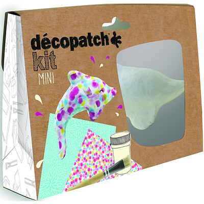 Avenue Mandarine Decopatch Mini Dolphins Kit - Kids Art Decoupage Kit
