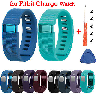 Silicone Wristband Band Straps Bracelet + Tools for Fitbit Charge Tracker Watch
