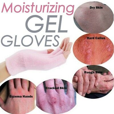Pure Moisturising Gel Pink Gloves Vitamin Dry Skin Hand Treatment Care Spa Mask