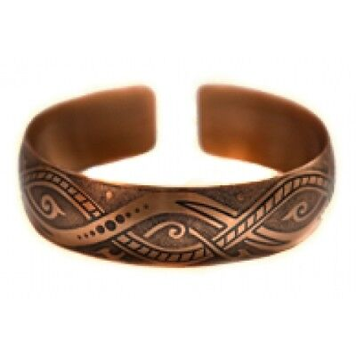 Pure 100% Copper Bracelet Bioactive Bangle Vintage Style Bronze Bali