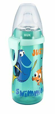 NUK New Disney Finding Dory 300ml First Choice Bottle Active Cup 12 Months+