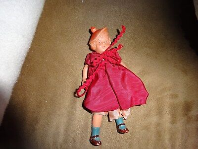 Old Porcelain Small Scottish Lass Doll in Tam Occupied Japan