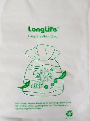 10 LongLife easy breathing bags for fish snail shrimp transport - like Kordon
