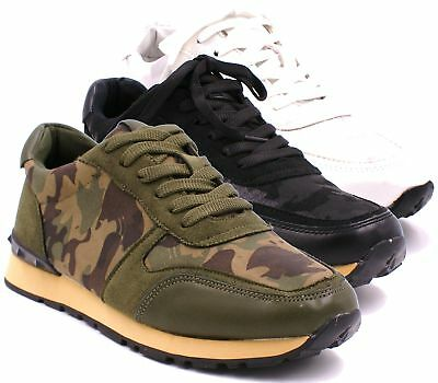 Womens Ladies Sport Shoes Running Trainers Camouflage Lace Up Fitness Sneaker Si