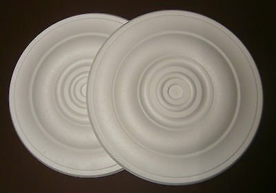 *Decorators Bargain* - 2 x Polystyrene Ceiling Rose 460mm^^Slightly Shop Soiled