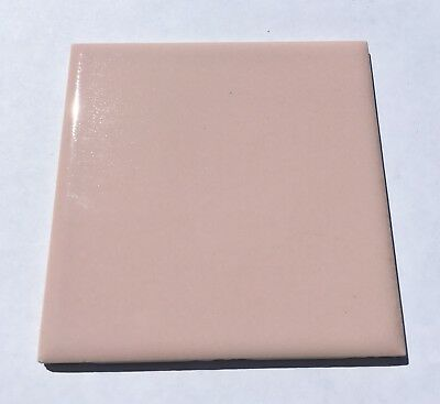 Shell Pink 4x4 Vintage Ceramic Tile 'Wenczel' -1Sq Ft- Surplus