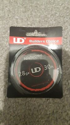 UD Nichrome Resistance Wire 10M -30ft Spool 28GA UK