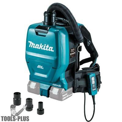 Makita XCV05ZX 36V 1/2G HEPA Backpack Dry Dust Extractor/Vac w/Tool Adapters New