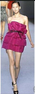 11b3c6c53445 Giambattista Valli for Impulse Macy's exclusive fuchsia strapless dress SZ  6 NWT