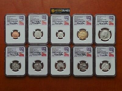 2017 S 225Th Anniversary Enhanced Ngc Sp70 First Day Issue Ana Set Mike Castle