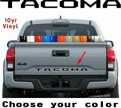 Premium 2016 2017 2019 Toyota Tacoma Vinyl Tailgate Letters Decal 10yr Warranty
