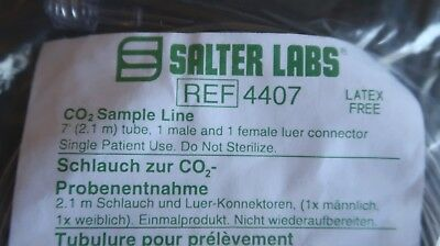 Salter Labs EtCO2 CO2 Capnography Sample Line 4407 Male Female Luer Lock Lok 7'