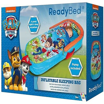 Paw Patrol My First Ready Bed Inflatable Toddler Sleeping Bag Airbed with Pump