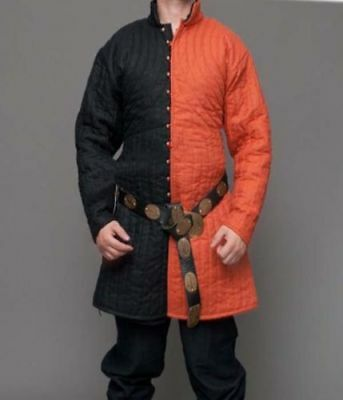 Medieval Thick Padded Gambeson costumes suit double shade