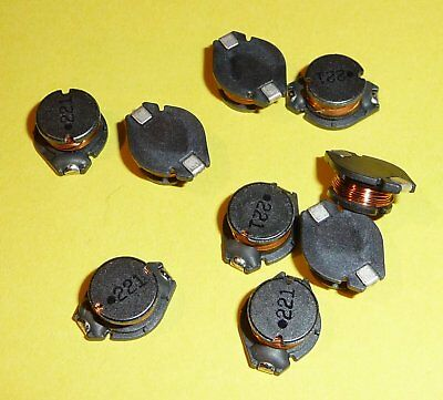 10x SMD Spule Drossel Filter 220uH 220μH 0,8A SMD 221 FPV Netzteil usw.