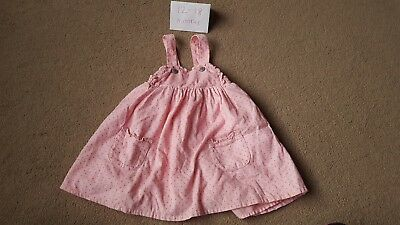Mothercare pink polka dot spotty dress 12-18 months baby girls dress