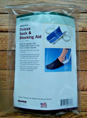 NEW Maddak Ableware Deluxe Sock and Stocking Aid - Helps with putting on socks