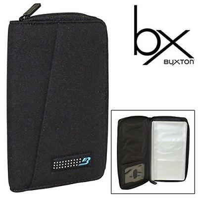Buxton Neoprene Water-Resistant Cover Business Card File Holds 96 Business Cards