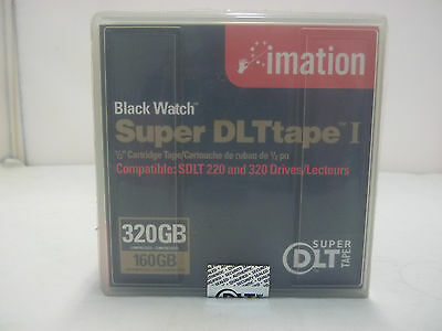 2Pack x New Imation Black Watch Super DLT tape 1 Data Cartridge 160/320GB Sealed