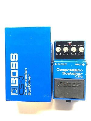 Boss CS-3, Compression Sustainer, Made In Japan, 1ST YEAR 1986, Original Boxing