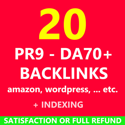 20 PR9 PR 9 pr9 Backlinks Best Seo Top High Authority Website Links Safe Google