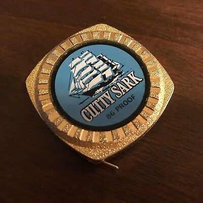 "Rare CUTTY SARK 86 PROOF POCKET MEASURING TAPE 72"" Scotch Clipper Ship Tall Ship"