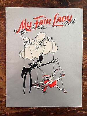 Vintage retro My Fair Lady theatre programme from the 1950s