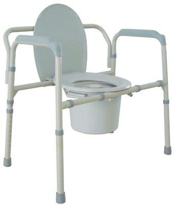 Drive Heavy Duty Bariatric Folding Bedside Commode Seat Medical Seat Toilet 650