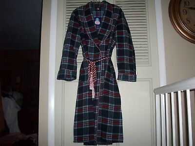 NWT Vintage BEACON BLANKET RED AND BLUE PLAID ROBE Mens Medium